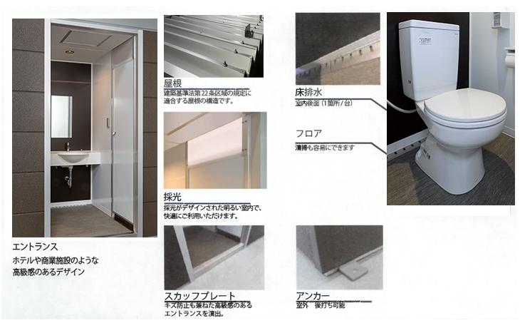 ハマネツの仮設トイレのコムズトイレの内装1です