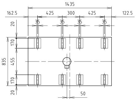 ハマネツの仮設屋外シャワーユニットFS2-20Rの仕様図3です