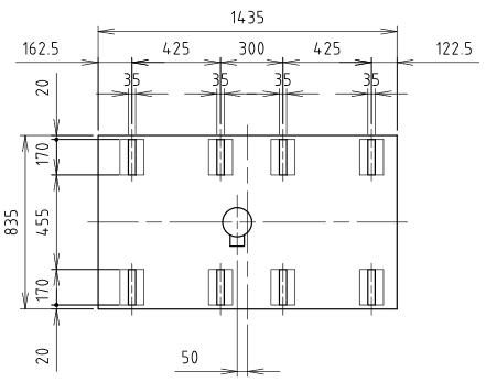ハマネツの仮設屋外シャワーユニットFS2-20Sの仕様図3です