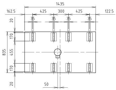 ハマネツの仮設屋外シャワーユニットFS2-20SBの仕様図3です