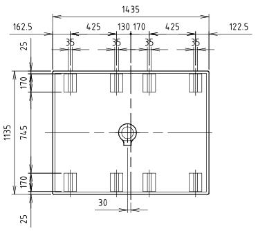 ハマネツの仮設屋外シャワーユニットFS2-23Rの仕様図3です