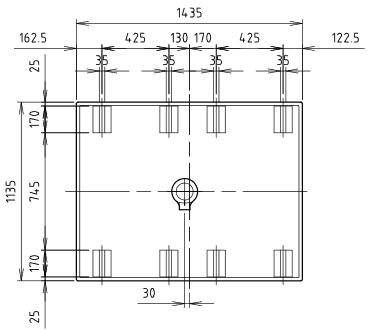 ハマネツの仮設屋外シャワーユニットFS2-23RBの仕様図3です