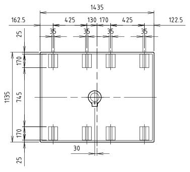 ハマネツの仮設屋外シャワーユニットFS2-23SBの仕様図3です
