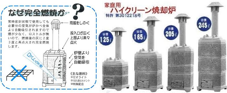家庭用焼却炉の山水籠(さんすいろう)なら建設ラッシュ